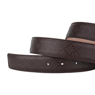 Gucci Men's Dark Brown Hilary Lux Diamante Belt 162946 Size: 36 Belts Gucci
