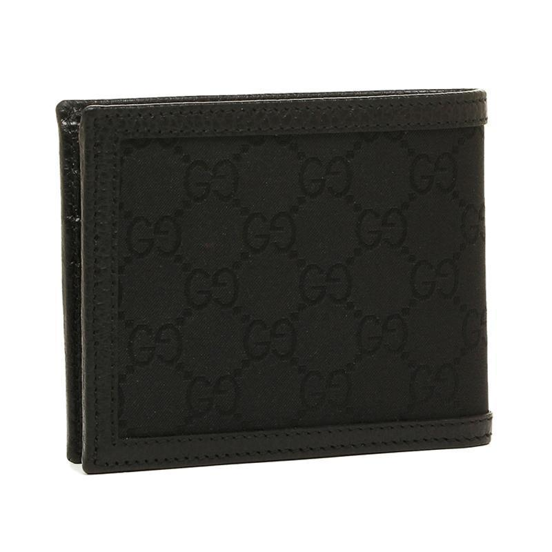 Gucci Men's GG Canvas Black Bifold Wallet 260987