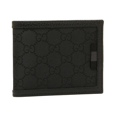 Gucci Men's GG Canvas Black Bifold Wallet 260987 Wallets Gucci