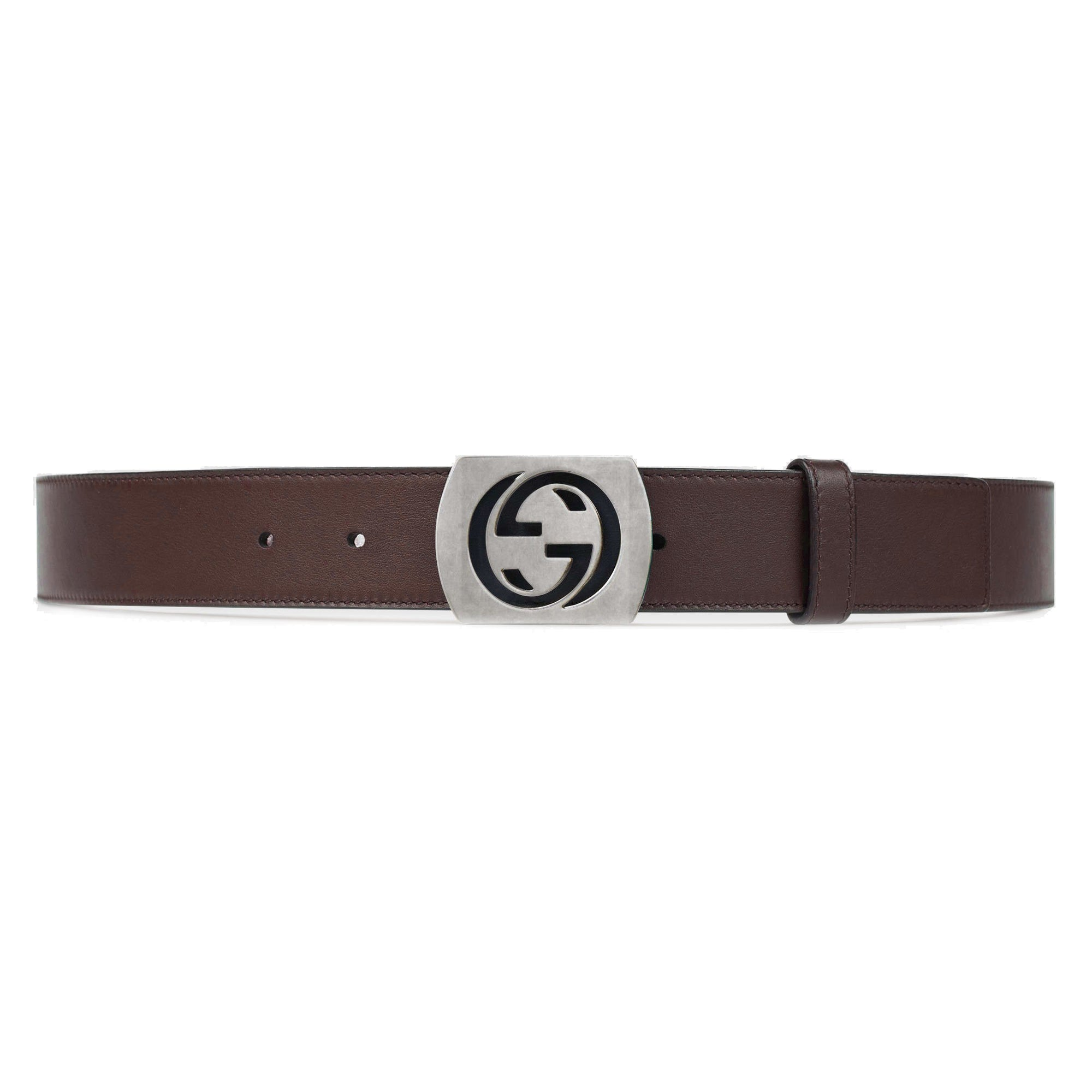Gucci Men's GG Logo Brown Belt 387031 Size: 40 Belts Gucci