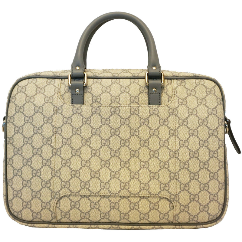 Gucci Men's GG Supreme Gray Briefcase 322287 Handbags Gucci
