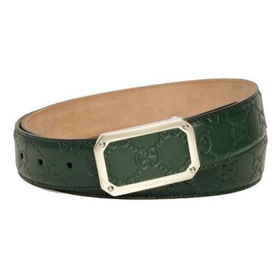 Gucci Men's Guccissima Dark Green Belt 403941 Size: 40 Belts Gucci