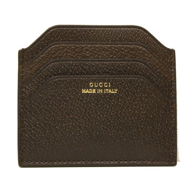 Gucci Men's Made in Italy' Brown Pigskin Leather Card Case 322107 Wallets Gucci Default Title