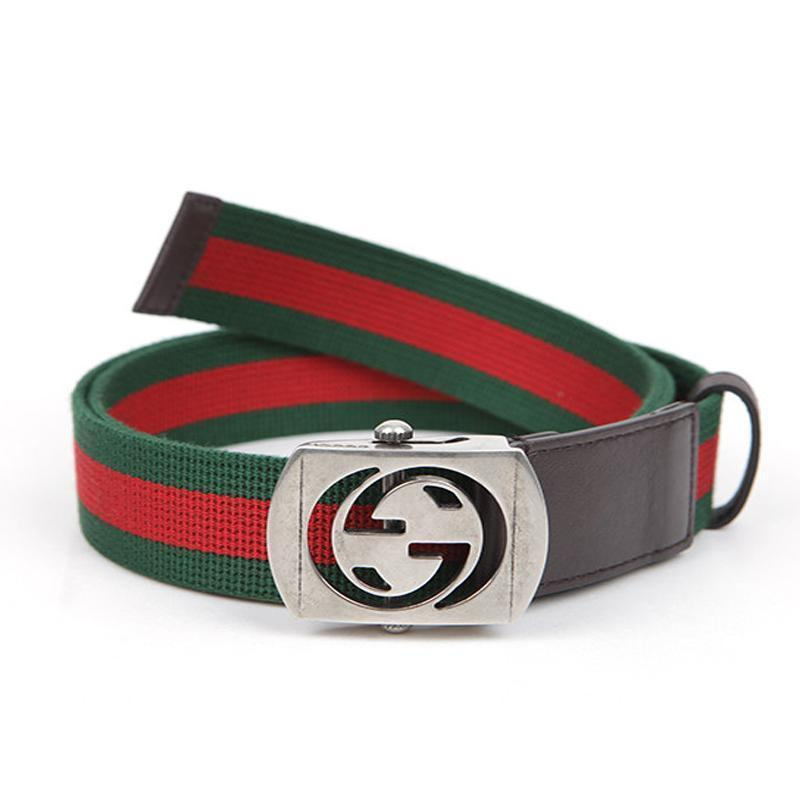 Gucci Men's Web Stripe GG Belt 387032 Size: 36