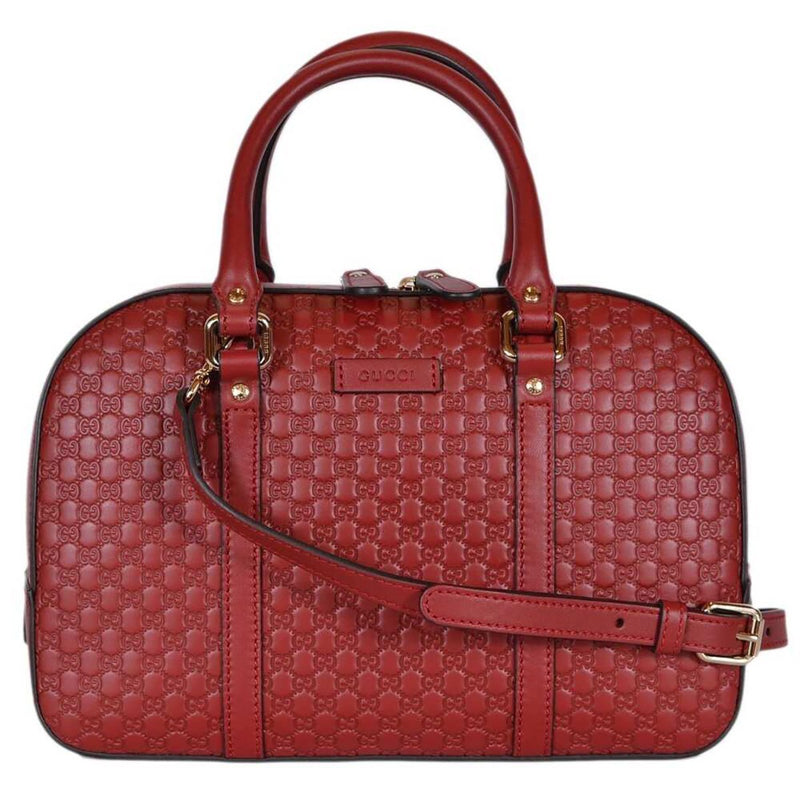 Gucci Micro Guccissima Soft Dollar Calf Margaux Red Bag Crossbody 510286