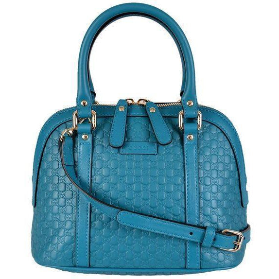 Gucci Microguccissima Soft Margaux Deep Cobalt Leather Dome Bag 449654 Handbags Gucci