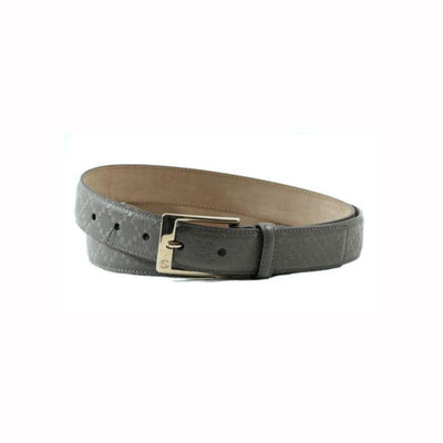 Gucci Unisex Classic Gray Diamante Leather Belt Silver Hardware Size: 90/36 345658 Belts Gucci