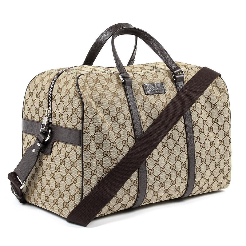 Gucci Unisex Classic Luggage Orginal GG Canvas Carry On Duffle Travel Bag 449167 Luggage Gucci