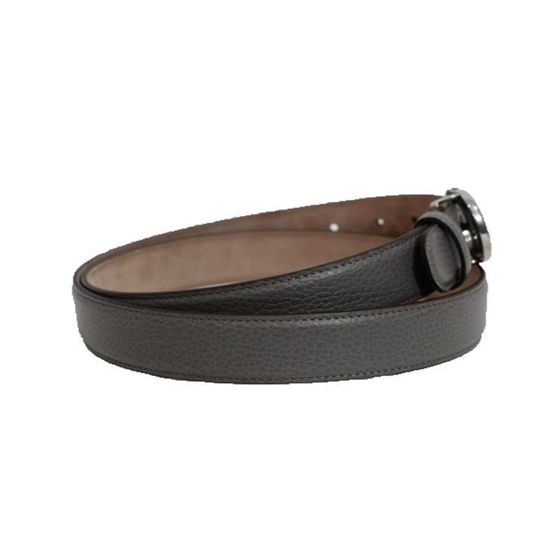 Gucci Unisex GG Gray Leather Belt 295704 Size: 38