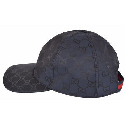 Gucci Unisex Midnight Blue GG Web Stripe Baseball 387578 Size: L Hats Gucci