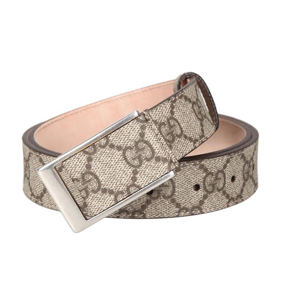 Gucci Unisex Original GG Canvas Beige Belt Size: 232735 310005