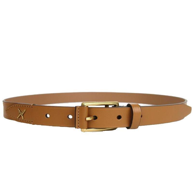 Gucci Unisex Tan Gold Feather Leather Belt Size: 80/32 375182 Belts Gucci