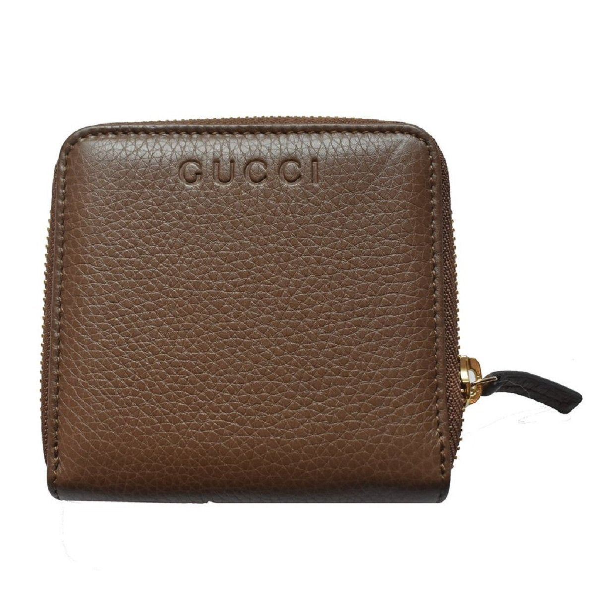 Gucci Women's Brown French Flap Zip Around Bifold Logo Wallet Coin Slot 346056