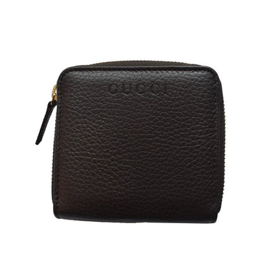 Gucci Women's Classic Dark Brown Leather French Flap Wallet 346056