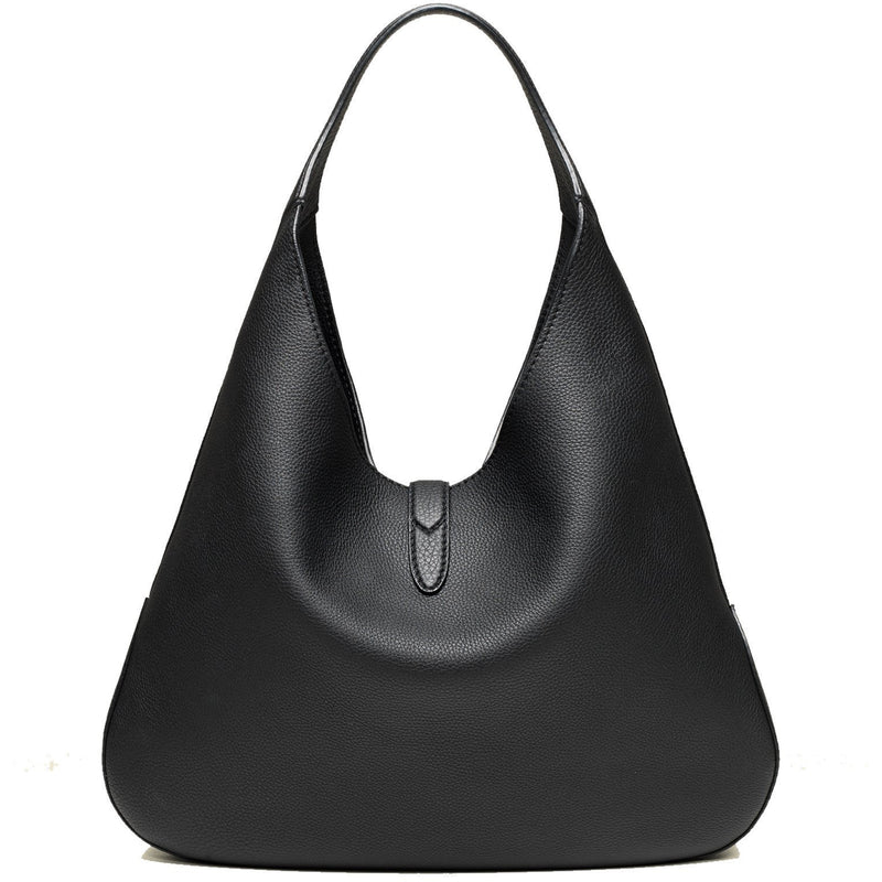 Gucci Women's Jackie Soft Black Grained Leather Grand Prix Hobo Handbag 362968