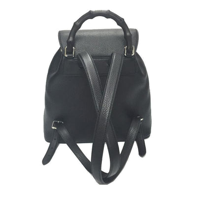 Gucci Women's Black Bamboo Backpack 370833 Handbags Gucci