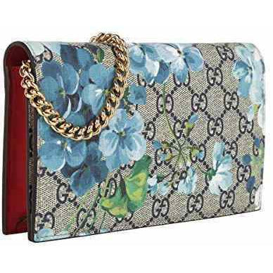 Gucci Womens Blooms Crossbody Wallet Chain Shoulder Bag 546368
