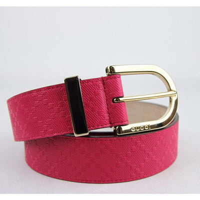 Gucci Women's Classic Pink Diamante Leather Belt Size 38 354382 Belts Gucci