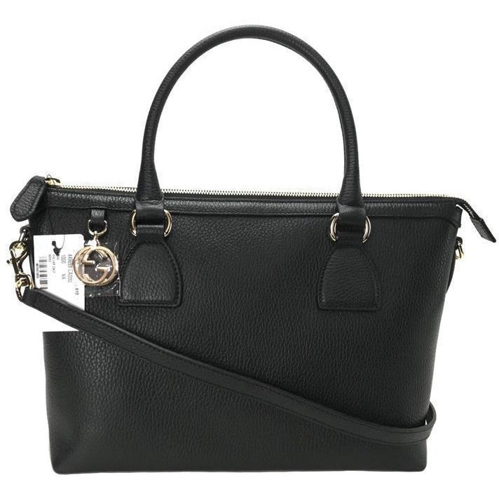 Gucci Women's GG Charm Black Handbag 449659 Handbags Gucci