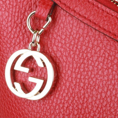Gucci Women's GG Charm Red Hobo Handbag 449711 Handbags Gucci
