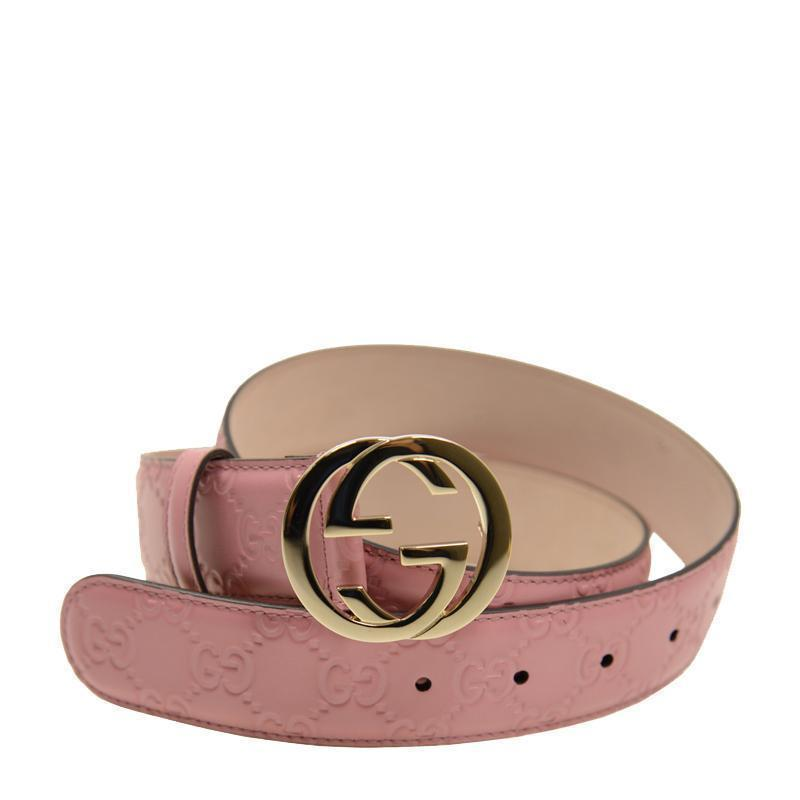 Gucci Women's Signature Soft Pink Belt 370543 Size: 90/36 Belts Gucci