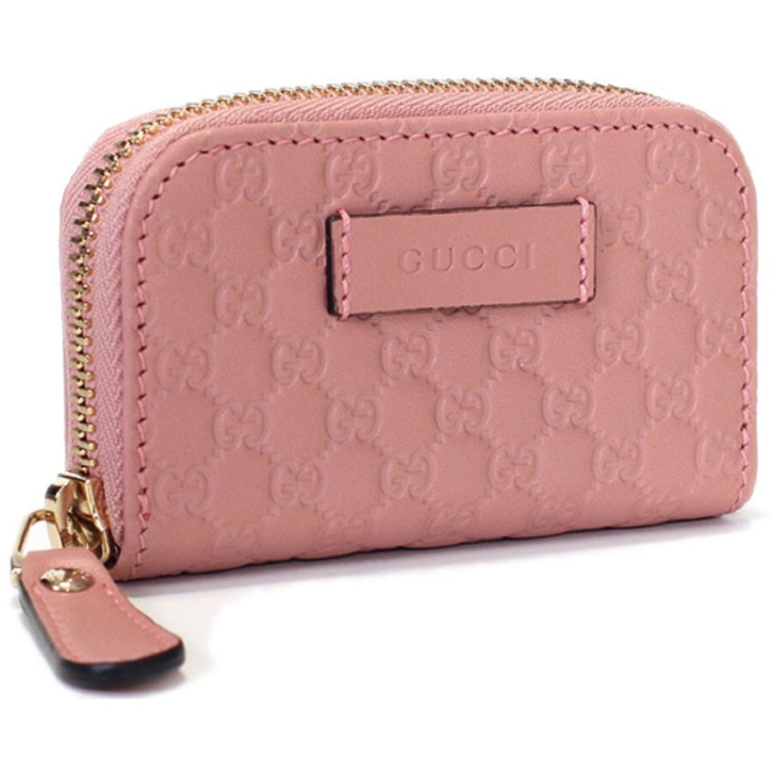 Gucci Womens Soft Pink Microguccissima Soft Leather Zip Wallet 449896