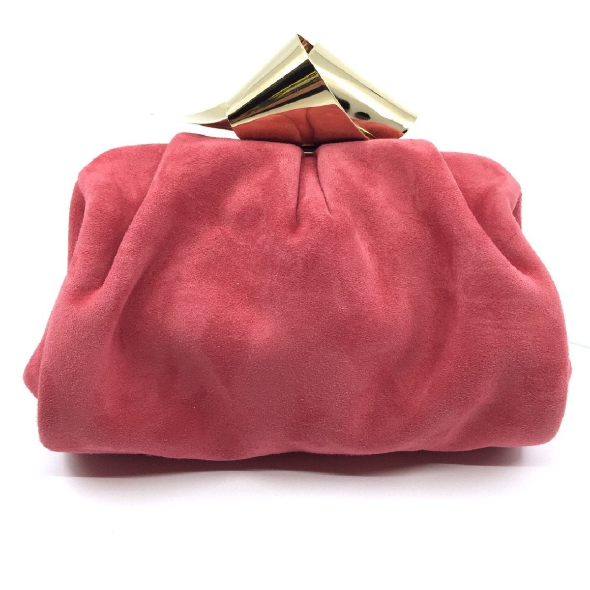 Jimmy Choo Cara/S Madeline Pink Suede Bow Knot Clasp Clutch Handbag SUE