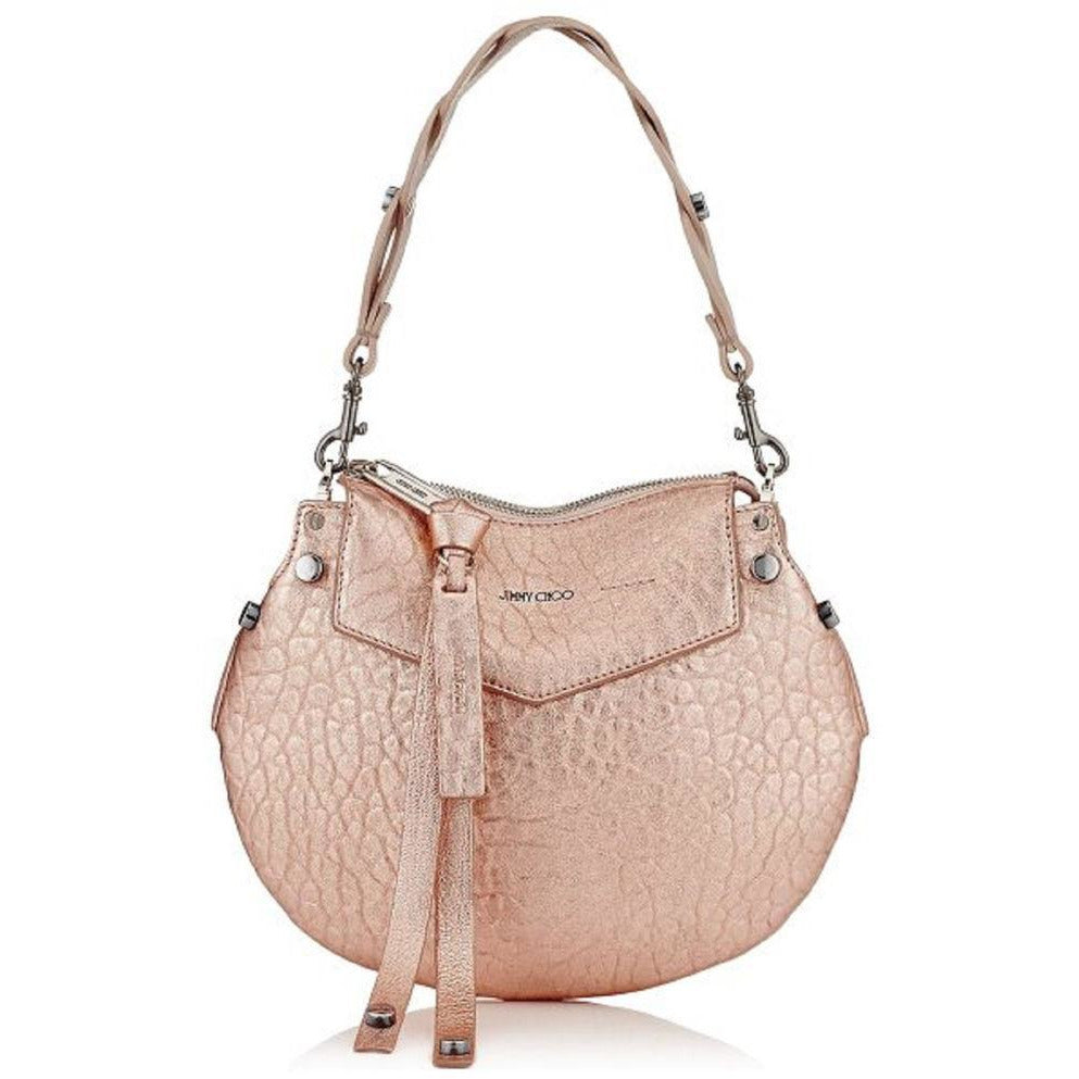 Jimmy Choo Women's Metallic Rose Gold Artie Mini Crossbody Handbag MGL174