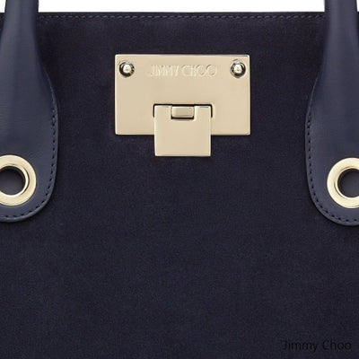 Jimmy Choo Women's Small Navy Blue Riley Suede Crossbody Bag OCERT028