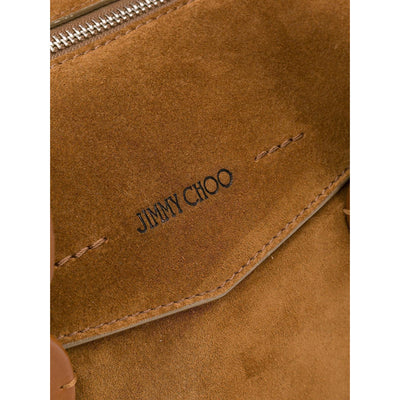 Jimmy Choo Women's Brown Allie Suede Bowling Handbag 945838 Handbags Jimmy Choo