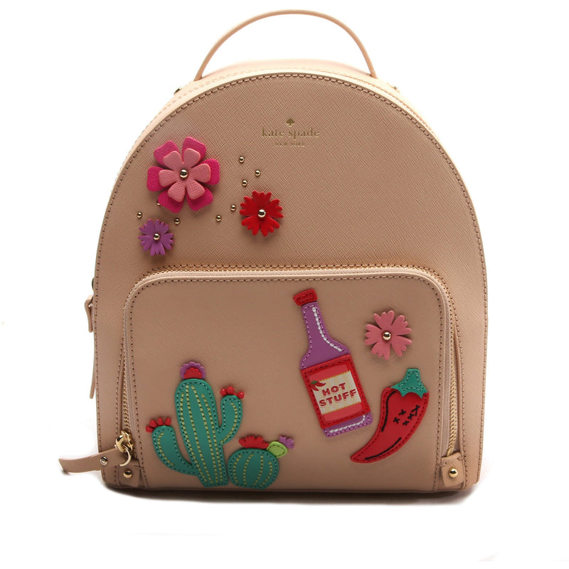 Kate Spade Cactus Tomi New Horizons Cashew Leather Small Backpack HANDBAG Kate Spade