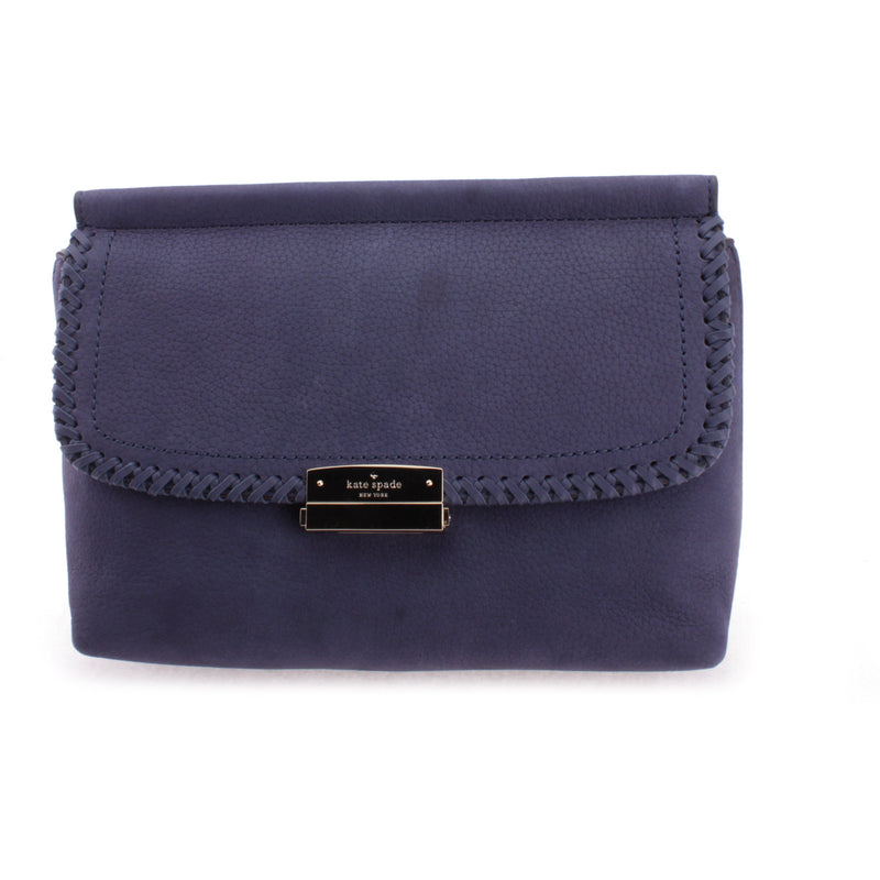 Kate Spade Dilia Somerton Street Diver Blue Suede Leather Clutch HANDBAG Kate Spade