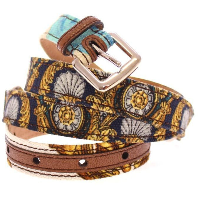 Multicolor Leather Printed Belt Dolce & Gabbana