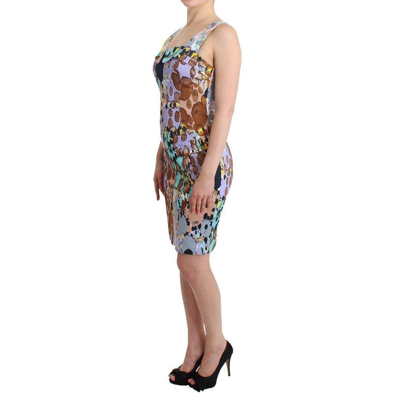 Multicolor printed pencil dress Roccobarocco