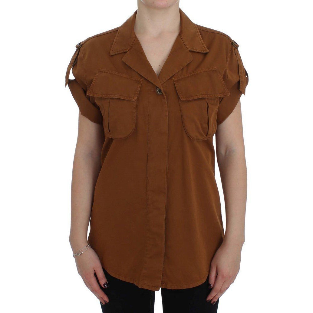 Orange Short Sleeve Shirt PLEIN SUD