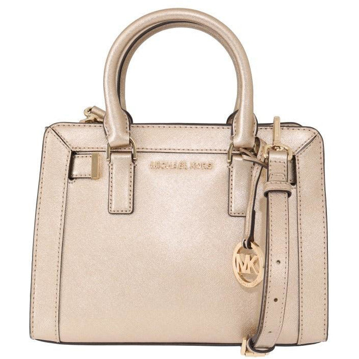Pale Gold DILLON Leather Satchel Bag Michael Kors