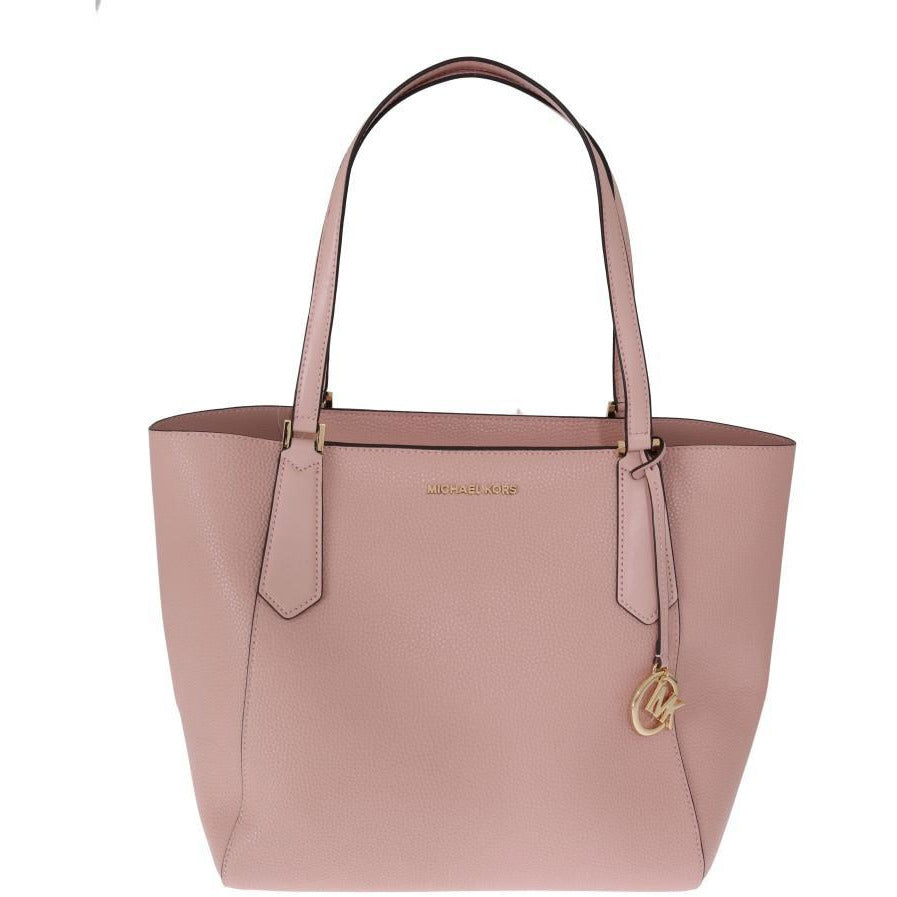 Pink KIMBERLY Leather Tote Bag Michael Kors