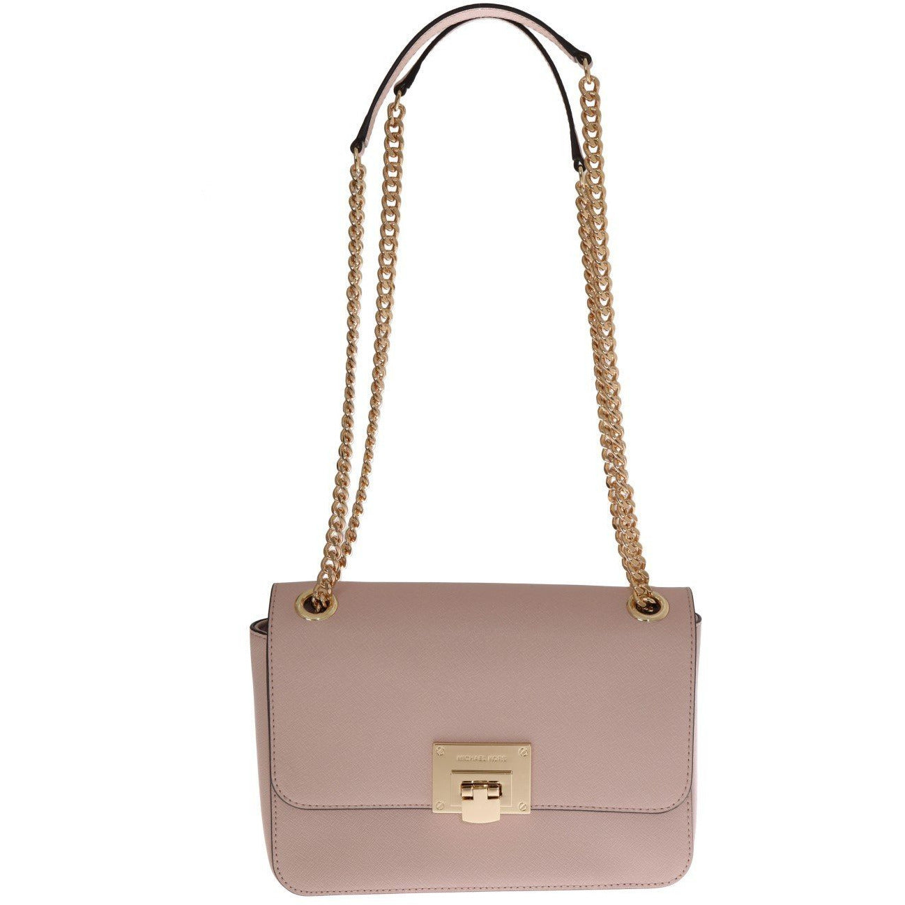 Pink TINA Leather Shoulder Bag Michael Kors