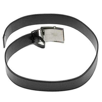 Prada Saffiano 1 Black Leather Belt 2CM009 Size: 95/38