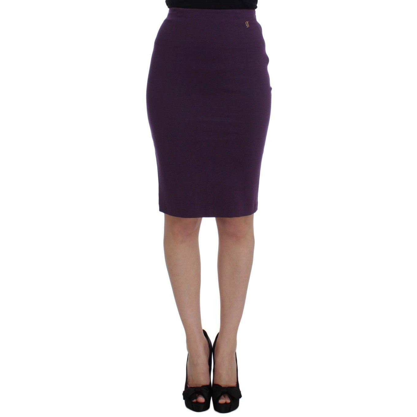 Purple Stretch Pencil Skirt Galliano