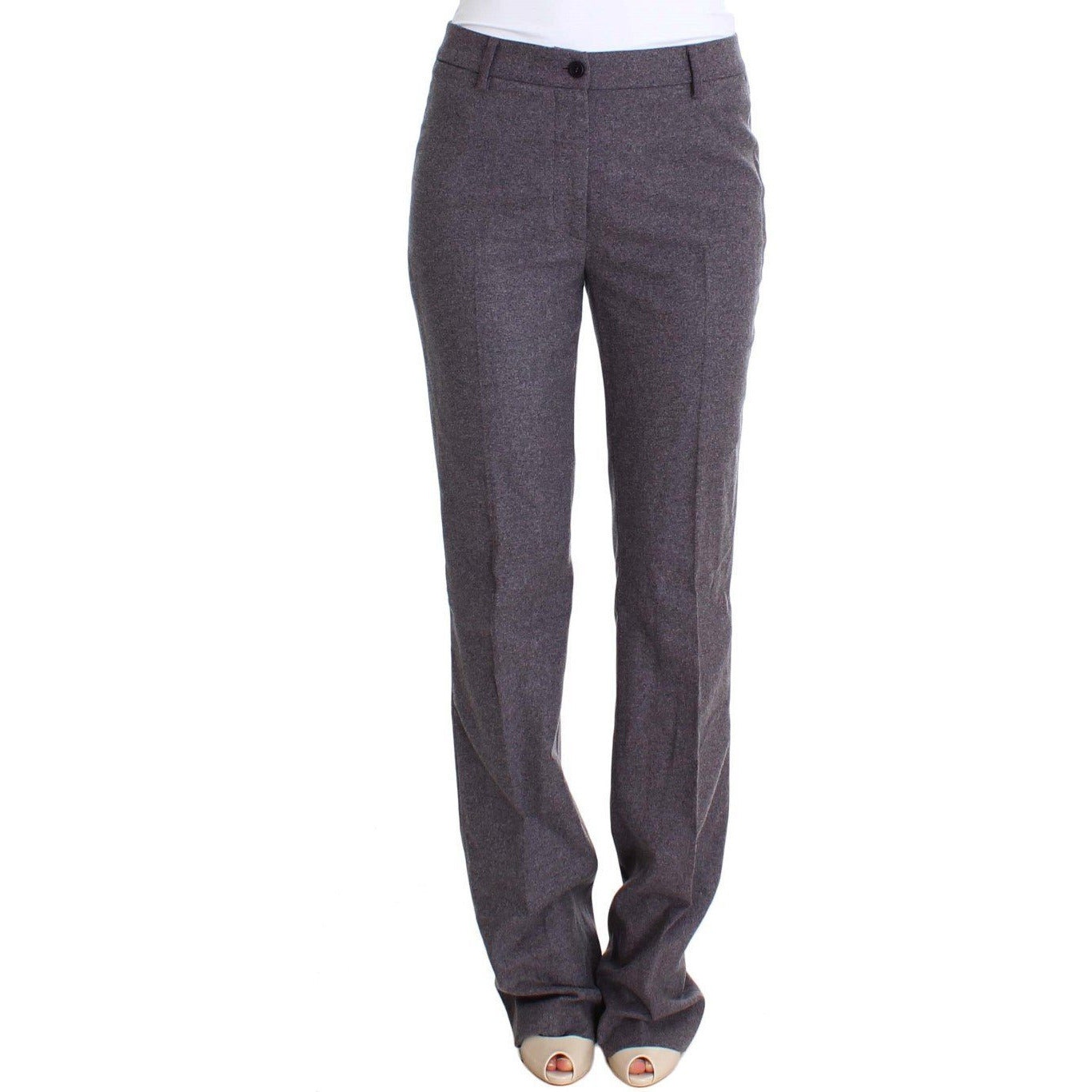 Purple Wool Stretch Dress Pants Ermanno Scervino