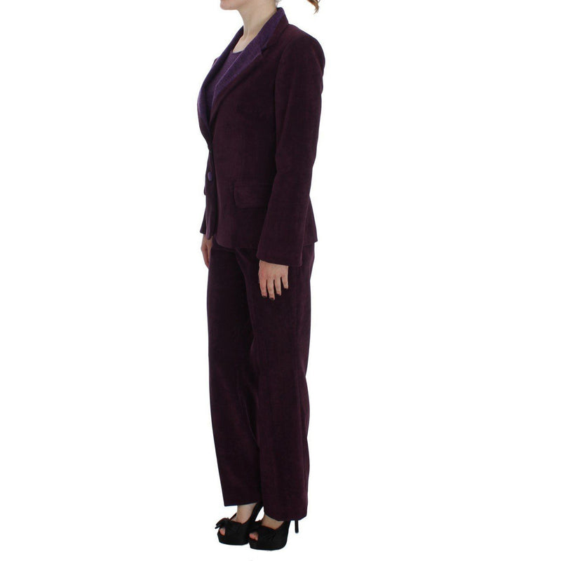 Purple Wool Suit T-Shirt Set BENCIVENGA