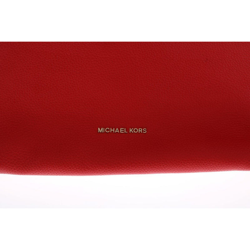 Red ARIA Leather Shoulder Bag Michael Kors