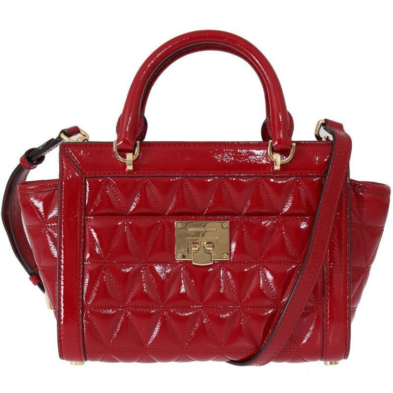 Red VIVIANNE Patent Messenger Bag Michael Kors