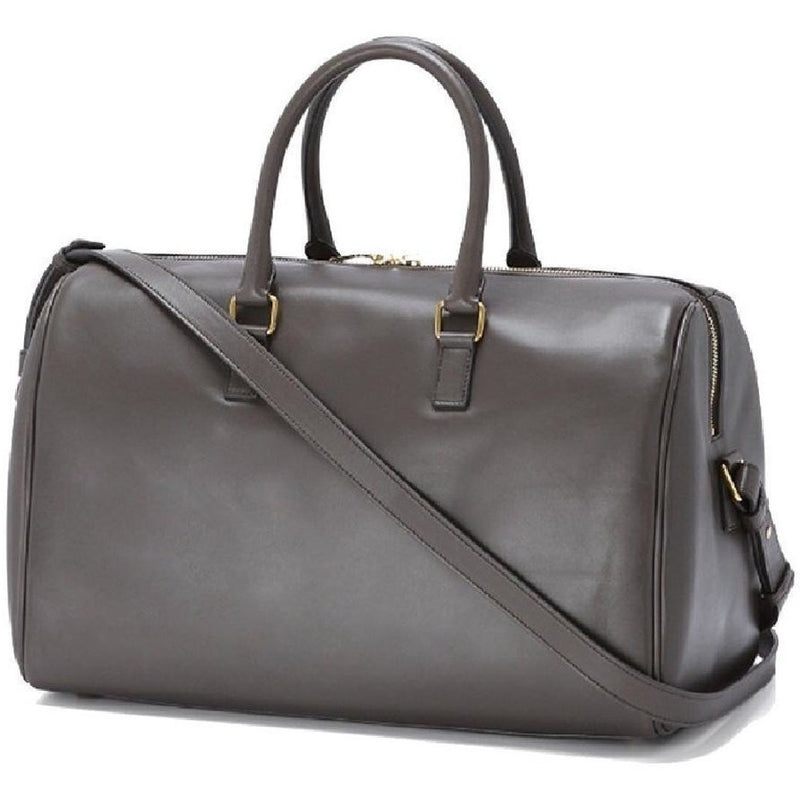 Saint Laurent Classic YSL 12 Hour Calf Skin Grey Large Leather Duffle Bag 322050