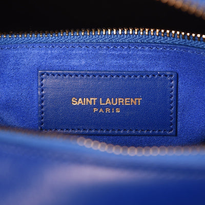 Saint Laurent Women's Classic 6 Duffle Bag Bright Blue Leather Satchel 314704