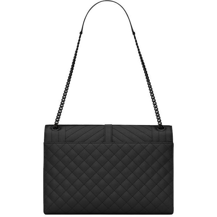 Saint Laurent YSL Black Grain D. Pourde Handbag 396910
