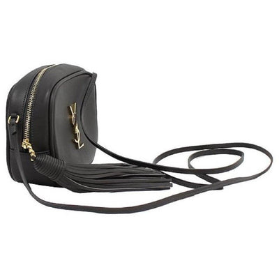 Saint Laurent YSL Charcoal Grey Nappa Monogram Blogger Bag 425317 Handbags Saint Laurent