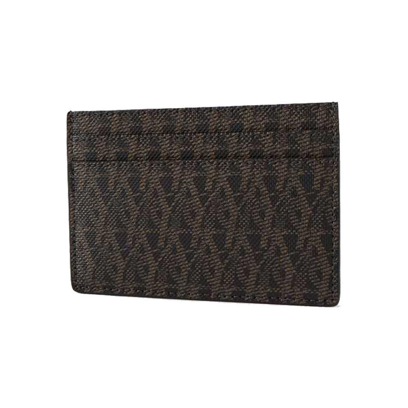 Saint Laurent YSL Unisex Brown Monogram Toile Rodeo Credit Card Case 375946