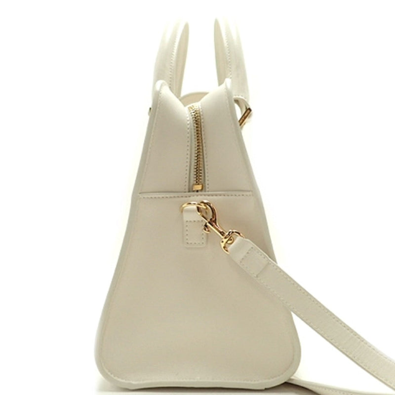 Saint Laurent YSL Women's White Leather Cabas Satchel Shoulder Handbag 472469